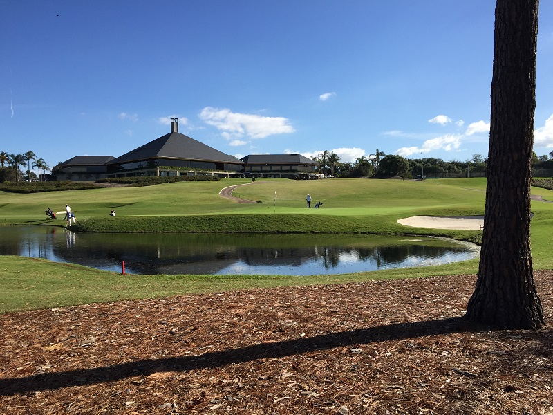 Hole 18 and Clubhouse