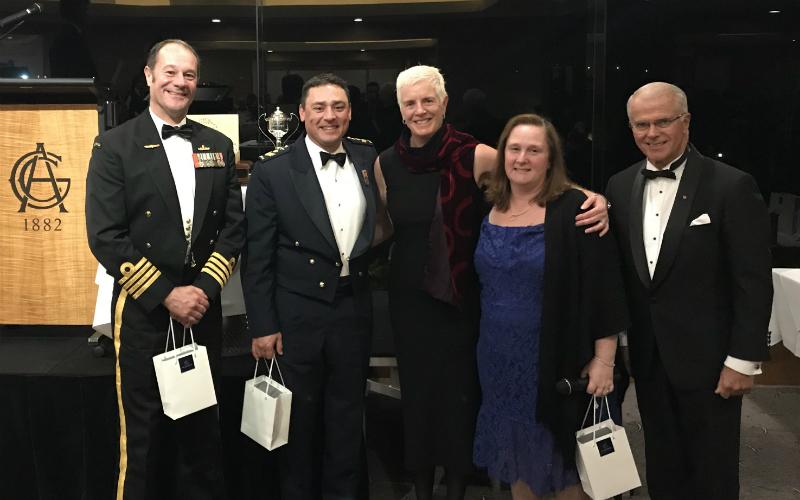 Winning Team: Joanne Cox (AGC), Michael Di Bari (RAAF), Brian Schlegel (RAN), Tracey Elliott (RAN)